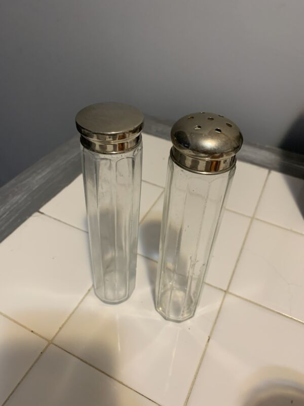 Antique Vanity Jar Set Of 2