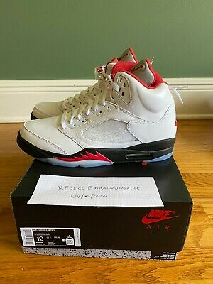 Nike Air Jordan 5 Fire Red Retro OG Silver Tongue White DA1911-102 2020 DS V