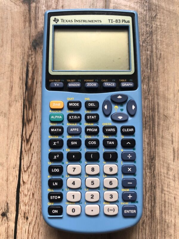 TI 83 Plus Graphing Calculator Limited Edition Blue Tested Preowned