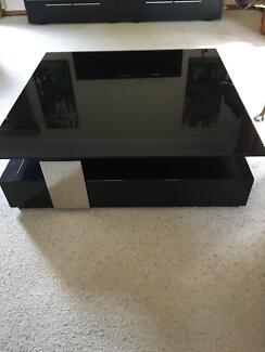 IKEA Tofteryd Coffee Table High Gloss White Coffee Tables