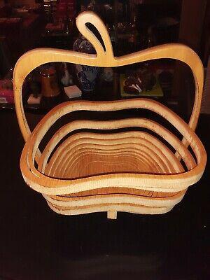 Wooden Carved Basket/ Fruit Basket