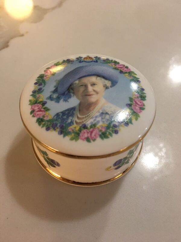 STAFFORDSHIRE BLUE WATERS 100Th Birtday Of Her Majesty QUEEN ELIZABETH TRINKET
