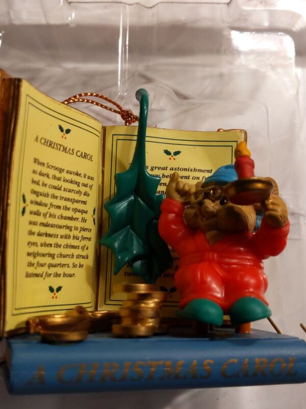 """Traditions Ornament """"Mouse and Christmas Carol Book"""" Collectible Gift Ornament"""