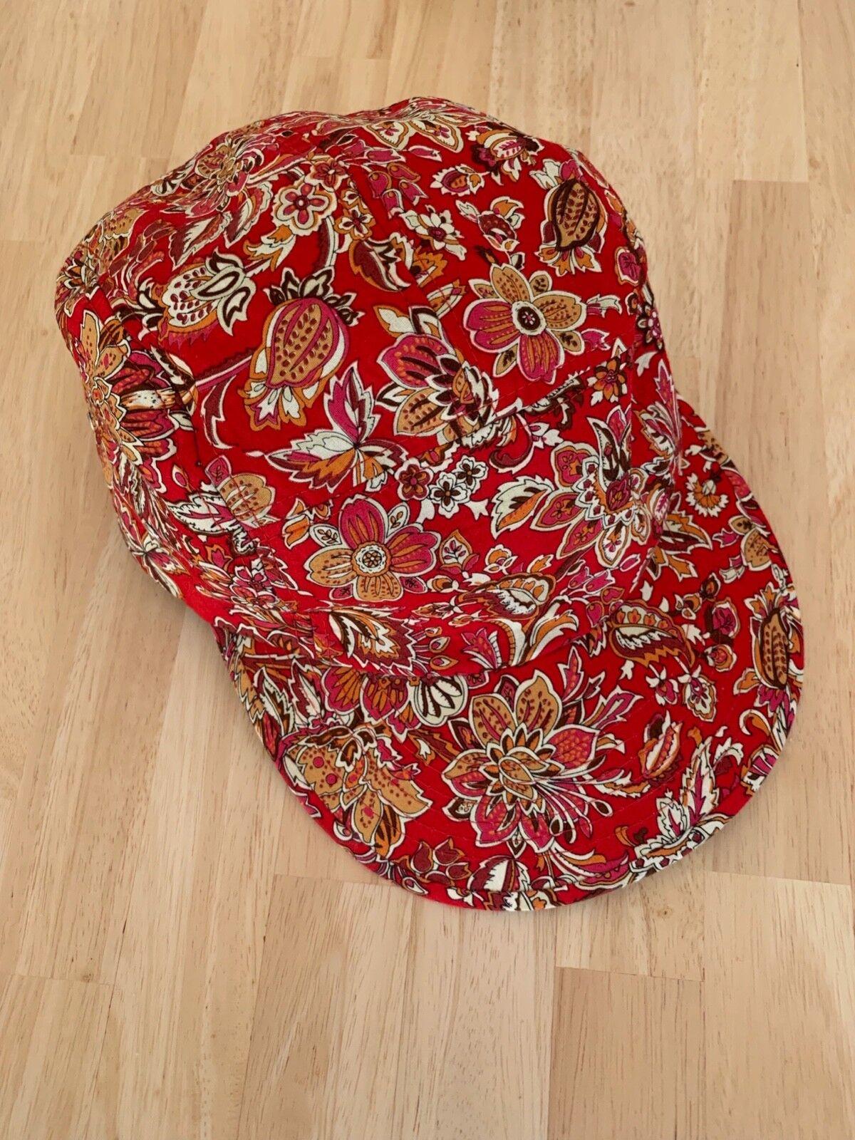 Supreme Kappe rot mit Blumenmuster, Hypebeast, sehr guter Zustand