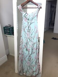 Cherry blossom off the shoulder gown