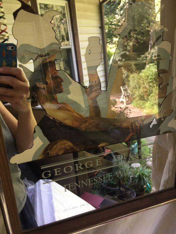 George Dickel Tennessee Cowboy Whisky Bar Mirror Man Cave Nude Kitchen Bathtub