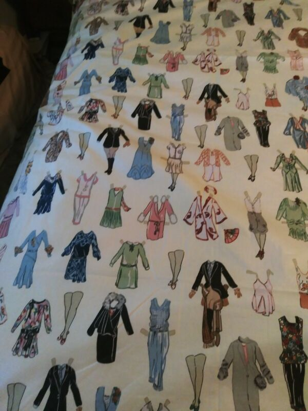 """King Size Unfinished Quilt Top Needs Trim added edges  Clothes Print 104"""" X 98"""""""