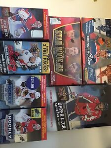 Sealed hockey card boxes - 15-16 UpperDeck & others