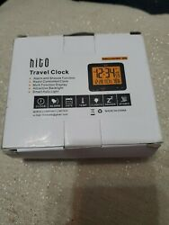 "hito 3.7"" Digital Battery Atomic Bedside Travel Alarm Clock Solar Panel Date. K"