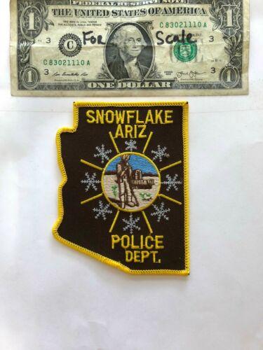 Snowflake Arizona Police Patch Un-sewn in mint shape