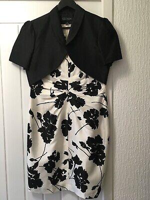 JESSICA HOWARD Black & White  Evening/Occasion/Wedding Midi Dress UK 16