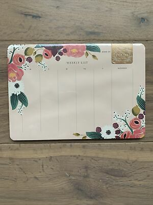 Rifle Paper Company Desk Pad 52 Tear-off Sheets Weekly List Planner Pink Floral