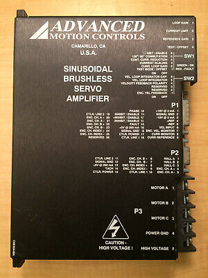 Amc Sinusoidal Brushless Servo Amplifier Se30a20c Advanced Motion Controls