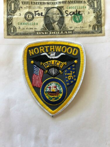 Northwood New Hampshire Police Patch un-sewn in mint shape