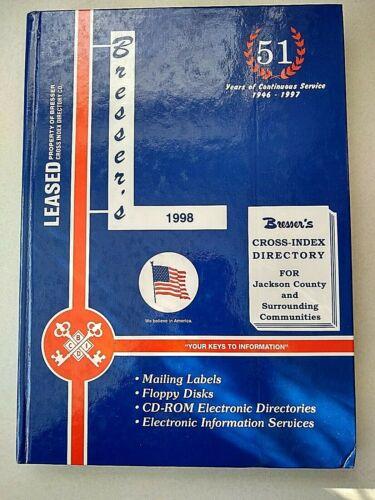 Genealogy Reference Jackson County MI Directory 1998 Bresser