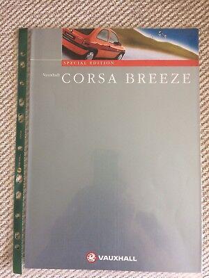 VAUXHALL CORSA BREEZE  SPECIAL EDITION BROCHURE 1998