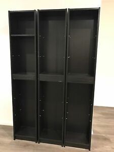3x IKEA black shelves Breakfast Point Canada Bay Area Preview