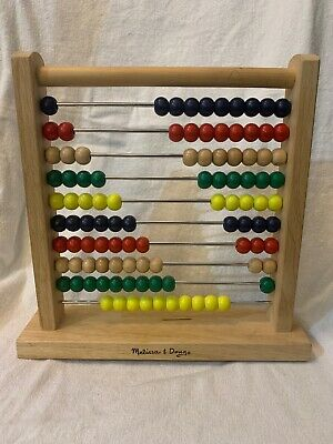 ABACUS- MELISSA & DOUG Classic style with 100 wooden beads