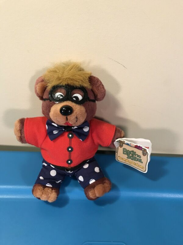 "RARE 1999 Teddy Graham Plush Back to School Beanybag Grahams 6"" Eddy makes grade"