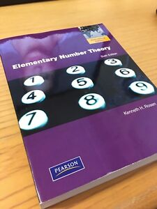 Elementary Number Theory by Kenneth H. Rosen sixth (6th) edition