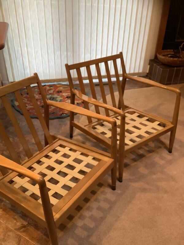 Mid Century 50's Modern Folke Ohlsson Dux Chairs Scandinavian