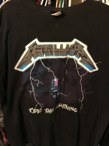 Metallica Vintage 1994 Ride the LIghtning T Shirt Giant XL Double Sided Electric