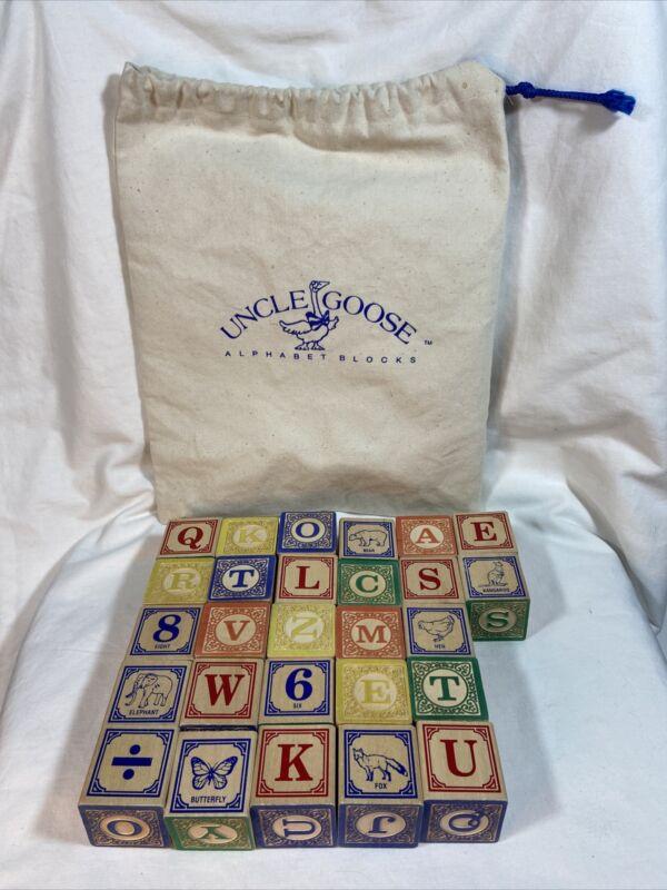 Uncle Goose 27 Blocks w/Canvas Bag