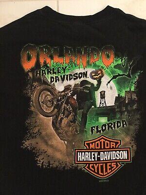 Harley Davidson Halloween (Harley Davidson Orlando Florida Halloween Headless Horseman Men XL T- Shirt)