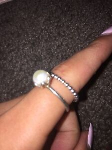 Pearl ring set PANDORA Kellyville The Hills District Preview