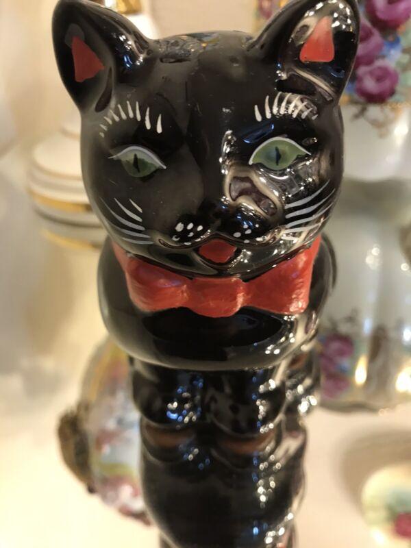 Red Jasperware Black Cat Antique