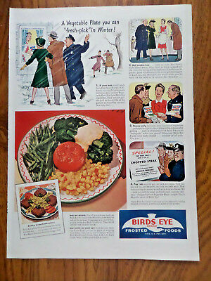 Frozen Vegetable Soup (1942 Birds Eye Frozen Foods Ad  Vegetable Plate You can Fresh-Pick in Winter )