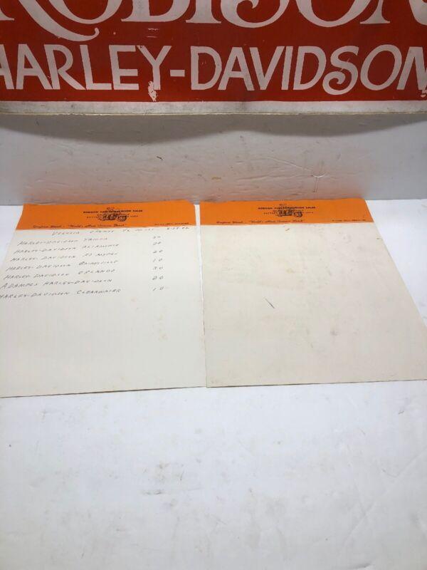 Robison Harley-Davidson Dealership Letterhead -1982 (earlier) AMF Shovelhead