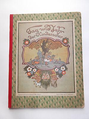 Original Kinderbuch Tag und Jahr der Kinderschar von R. Scheibenhuber um 1900