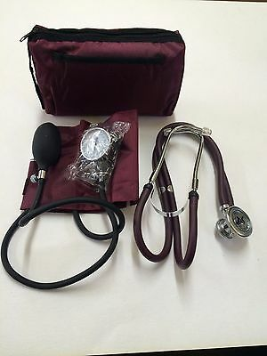 Aneroid Sphygmomanometer Stethoscope Kit Manual Blood Pressure Bp Cuff 3 Colors