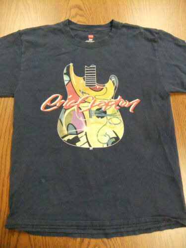 Eric Clapton 2010 Tour Dates Concert T Shirt Hanes Navy Blue Medium