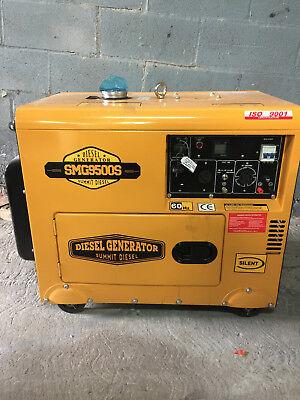 2018 Summit Diesel Generator  Smg9500s 110240 Voltage Brand New