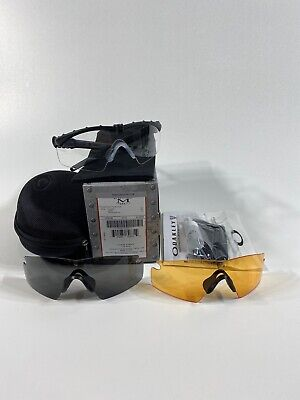 NEW Oakley SI Ballistic M Frame 3.0 AGRO Black Grey, Clear,  Persimmon OO9146-04