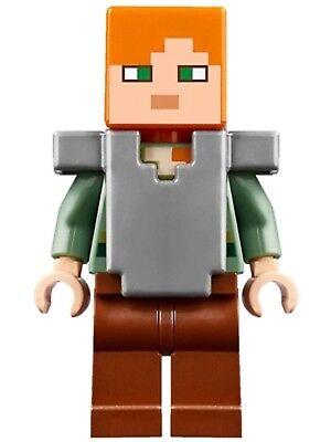 LEGO Minecraft™ Minifigura Alex Minifig Plano Plata Armour De Juego 21133