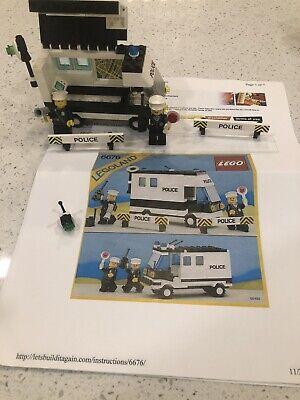 Lego Legoland Town Classic Mobile Command Unit #6676 year 1986 w/ 2 minifigs