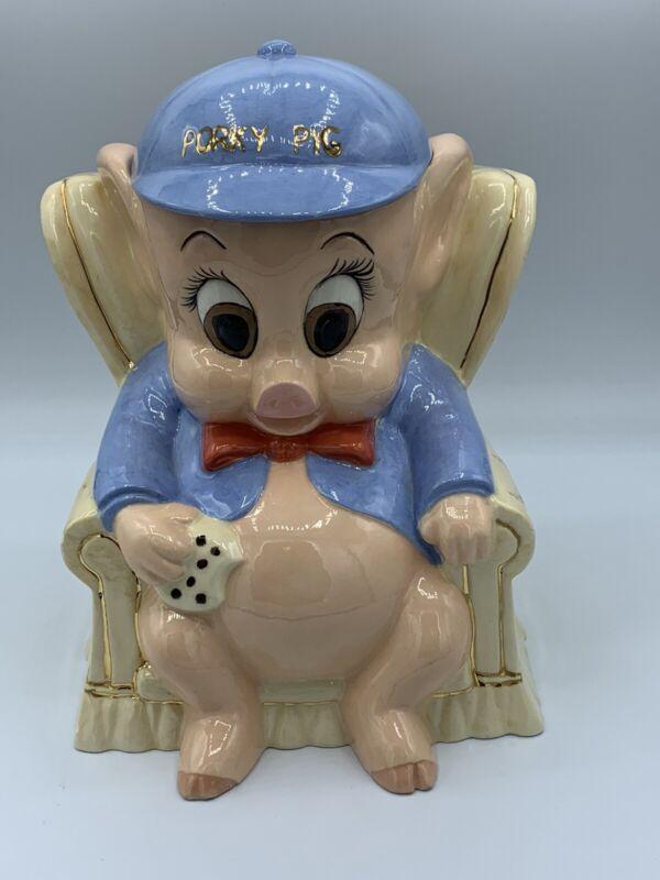 Vintage 1975 Warner Brothers Porky Pig Cookie Jar Beautiful Colors