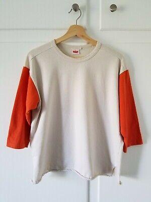 Levi's Vintage Clothing LVC Orange Baseball Cropped T-Shirt Spring 2016 Home Run