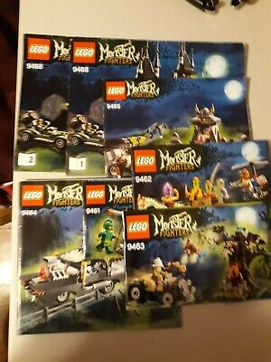 Lego Monster Fighters Lot 9461 9462 9463 9464 9465 9468 Instruction Manuals Only