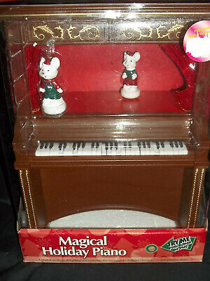 Magical Holiday Piano Musical 12 Christmas Carols Animated Mice and Lights Flash