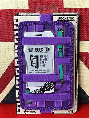 Bookaroo Notebook Tidy - Purple. For Pens, Phones, Bits and Bobs. Gift, New