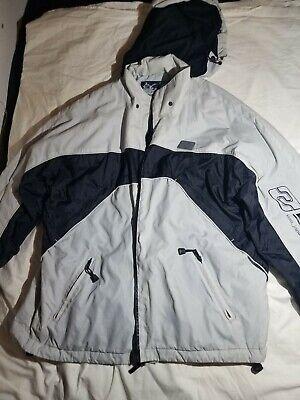 Billabong Bulletproof Outerwear White/Black Large Insulated Snow Jacket.  Billabong Snow Jackets