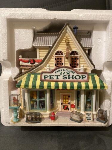 Lemax PAWS & CLAWS PET SHOP Christmas Village Pet Store