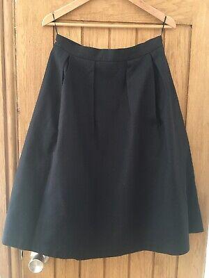 Oasis Black A Line Midi Skirt Ladies  12
