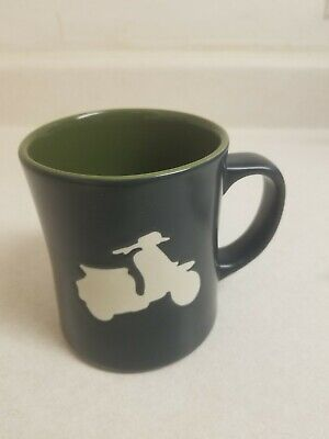 Starbucks Coffee Moped 2011 Collectors Mug 16 oz Black (Motorcycle - Bike)
