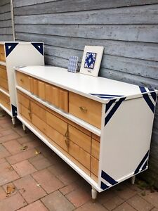 Two refinished mid century dressers - can be sold individually
