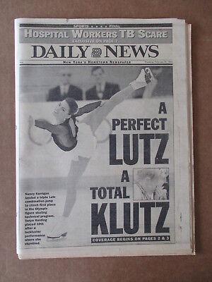 NANCY KERRIGAN TONYA HARDING  DAILY NEWS NEWSPAPER 2/24, 1994 BONNIE BLAIR